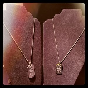 Jewelry - NWOT His and Her King & Queen Necklace set